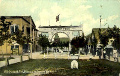 Entrance, Seaside Park - Old Orchard Beach, Maine ME Postcard