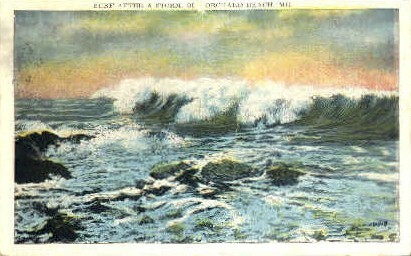 Surf - Old Orchard Beach, Maine ME Postcard