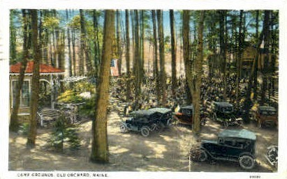 Camp Grounds - Old Orchard Beach, Maine ME Postcard