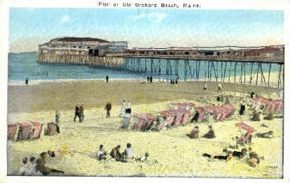 Pier - Old Orchard Beach, Maine ME Postcard