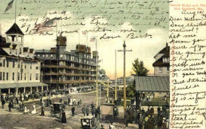 Velvet Hotel & Pier - Old Orchard Beach, Maine ME Postcard