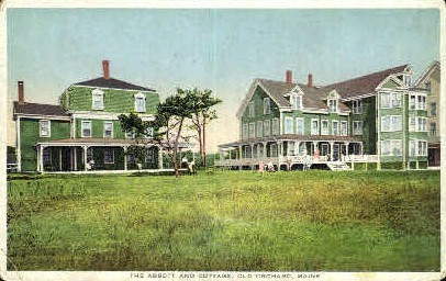 The Abbott & Cottage - Old Orchard Beach, Maine ME Postcard