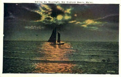 Sailing - Old Orchard Beach, Maine ME Postcard