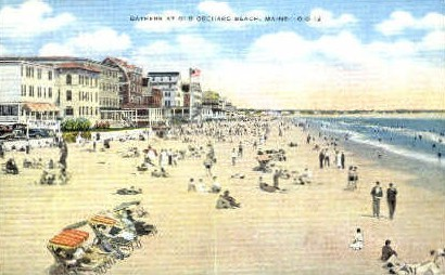 Bathers - Old Orchard Beach, Maine ME Postcard