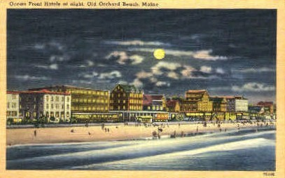 Ocean Front Hotels - Old Orchard Beach, Maine ME Postcard
