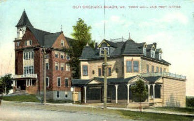 Town Hall & Post Office - Old Orchard Beach, Maine ME Postcard
