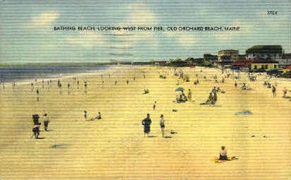 Bathing Beach - Old Orchard Beach, Maine ME Postcard