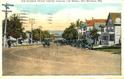 Old Orchard St. - Old Orchard Beach, Maine ME Postcard
