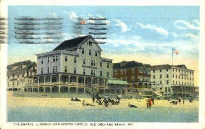 Vesper Hotels - Old Orchard Beach, Maine ME Postcard