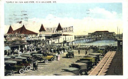 Temple of Fun & Pier - Old Orchard Beach, Maine ME Postcard