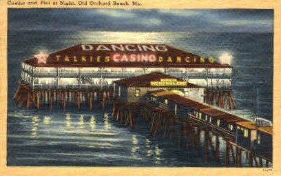 Casino & Pier - Old Orchard Beach, Maine ME Postcard