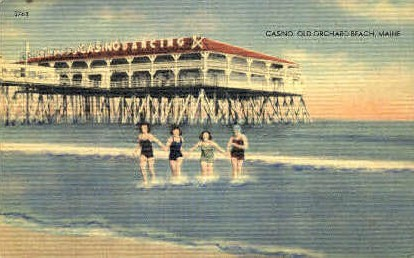 Casino - Old Orchard Beach, Maine ME Postcard