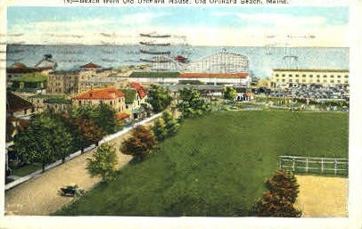 Beach - Old Orchard Beach, Maine ME Postcard
