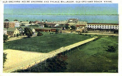 Old Orchard House Grounds - Old Orchard Beach, Maine ME Postcard
