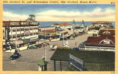 Amusement Center - Old Orchard Beach, Maine ME Postcard