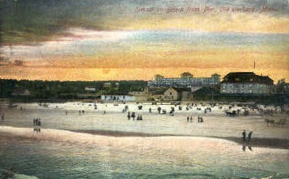Sunset - Old Orchard Beach, Maine ME Postcard