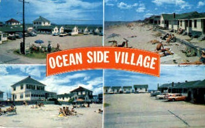 Ocean Side Village - Old Orchard Beach, Maine ME Postcard
