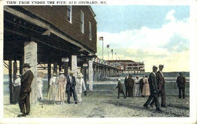 Under the Pier - Old Orchard Beach, Maine ME Postcard