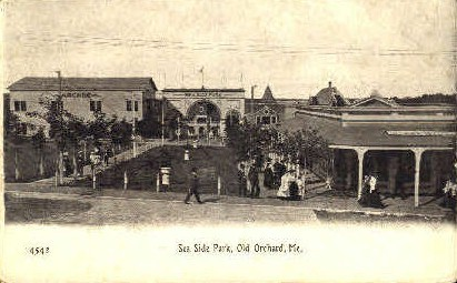Sea Side Park - Old Orchard Beach, Maine ME Postcard