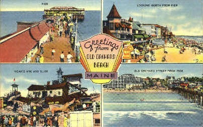 Greetings From - Old Orchard Beach, Maine ME Postcard