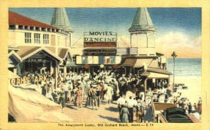 The Amusement Center - Old Orchard Beach, Maine ME Postcard