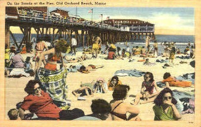 On the Sands - Old Orchard Beach, Maine ME Postcard