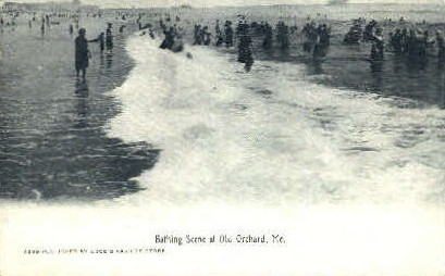 Bathing - Old Orchard Beach, Maine ME Postcard