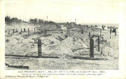 After the Fire - Old Orchard Beach, Maine ME Postcard