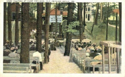 Camp Meeting, Camp Grounds - Old Orchard Beach, Maine ME Postcard