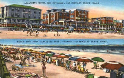 Lafayette Hotel - Old Orchard Beach, Maine ME Postcard