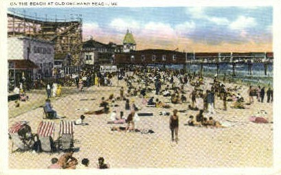 On the Beach - Old Orchard Beach, Maine ME Postcard
