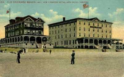 New Linwood & Hotel Vesper - Old Orchard Beach, Maine ME Postcard