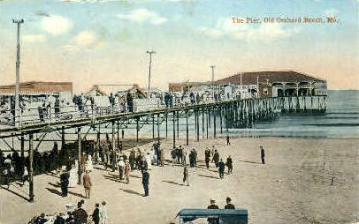 The Pier - Old Orchard Beach, Maine ME Postcard