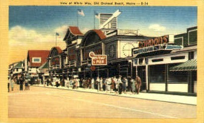 White Way - Old Orchard Beach, Maine ME Postcard