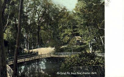 Trout Pond, Riverton Park - Portland, Maine ME Postcard
