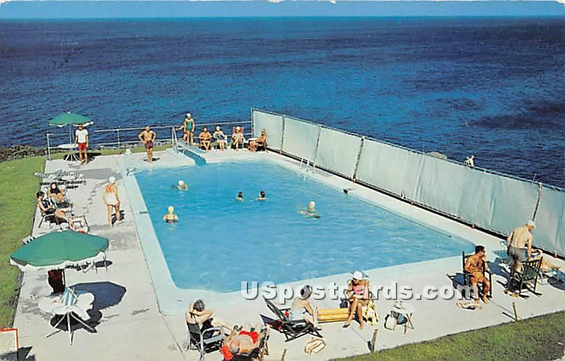 Swimming Pool at The Cliff House - Ogunquit, Maine ME Postcard