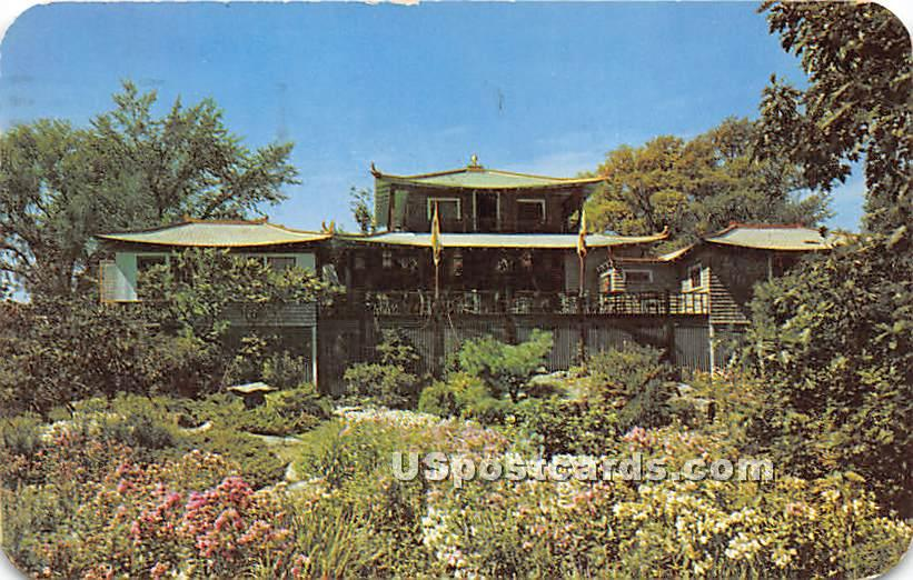 Dan Sing Fan Gift Shop & Tea House from the Garden - Ogunquit, Maine ME Postcard