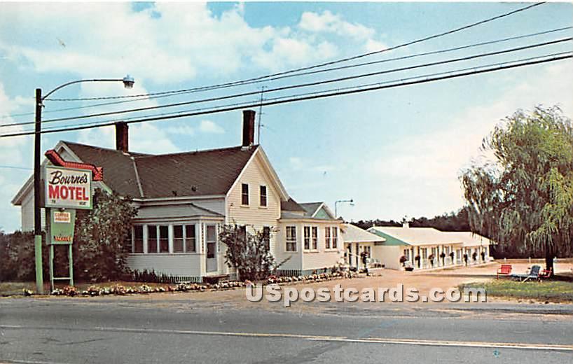 Bourne's Motel - Ogunquit, Maine ME Postcard