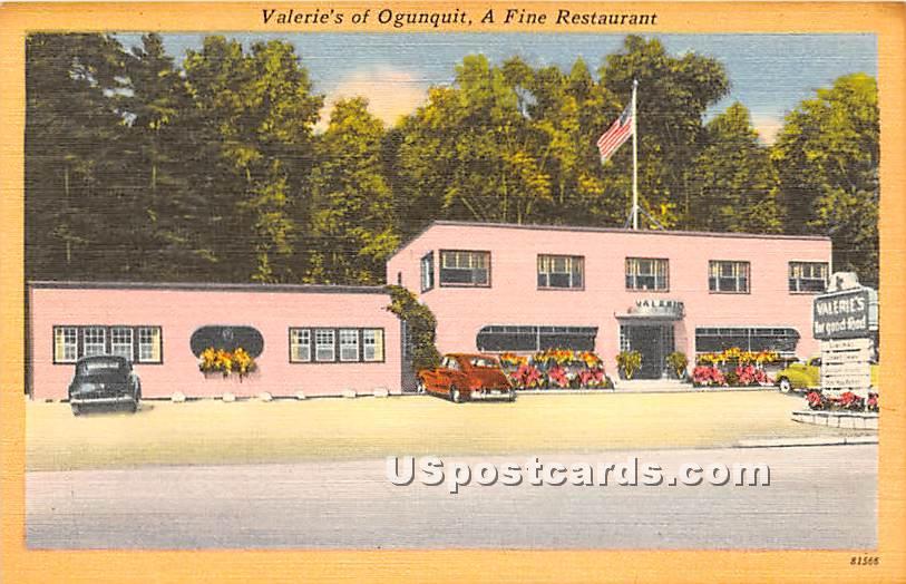 Valerie's of Ogunquit a Fine Restaurant - Maine ME Postcard