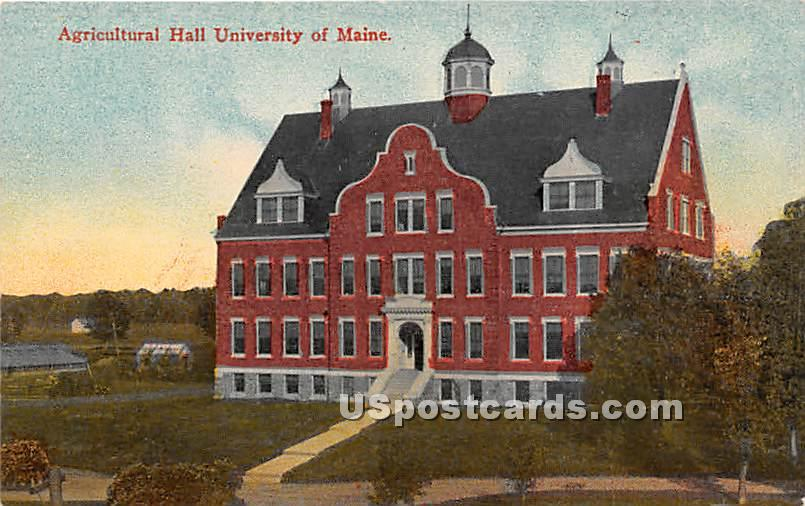 Agricultural Hall at University of Maine - Orono Postcard