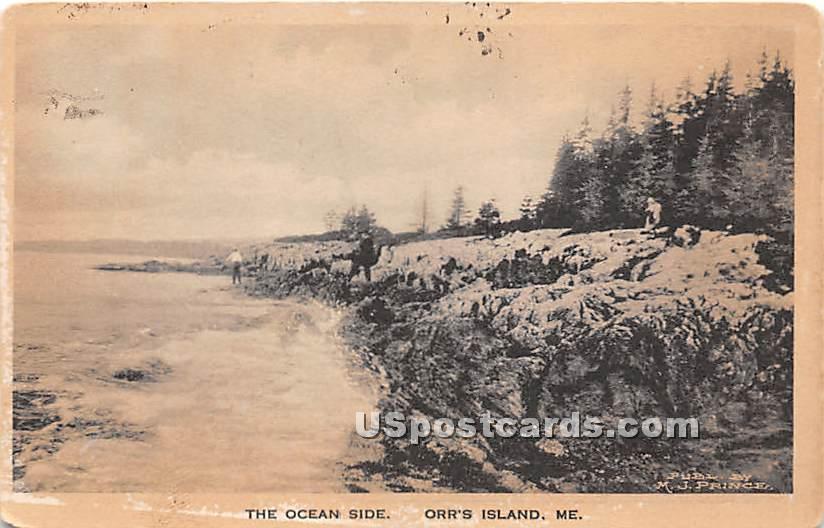 The Ocean Side - Orrs Island, Maine ME Postcard