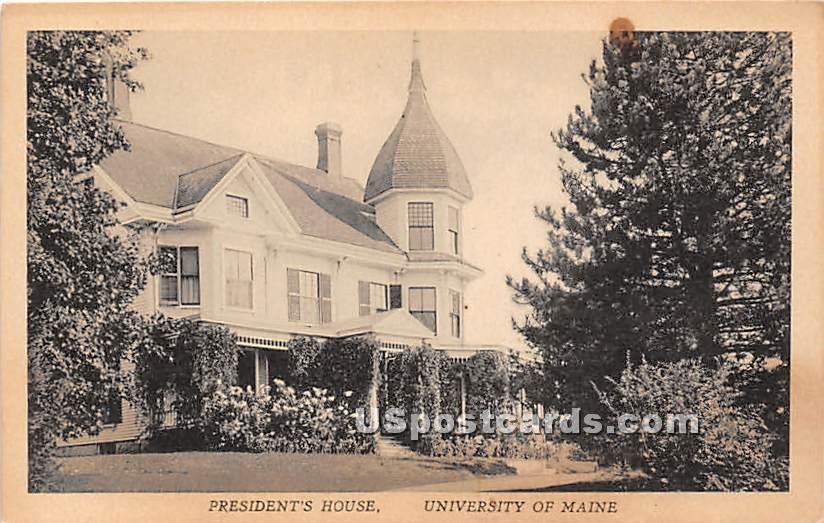 President's House at University of Maine - Orono Postcard