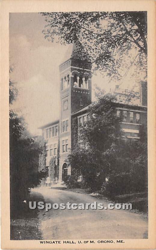 Wingate Hall at University of Maine - Orono Postcard