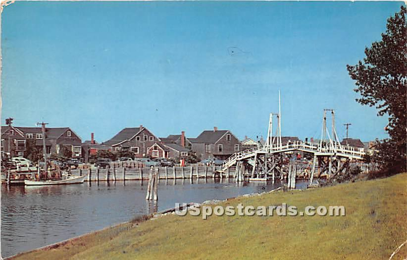 Fishing Village and Footbridge at Perkins Cove - Ogunquit, Maine ME Postcard