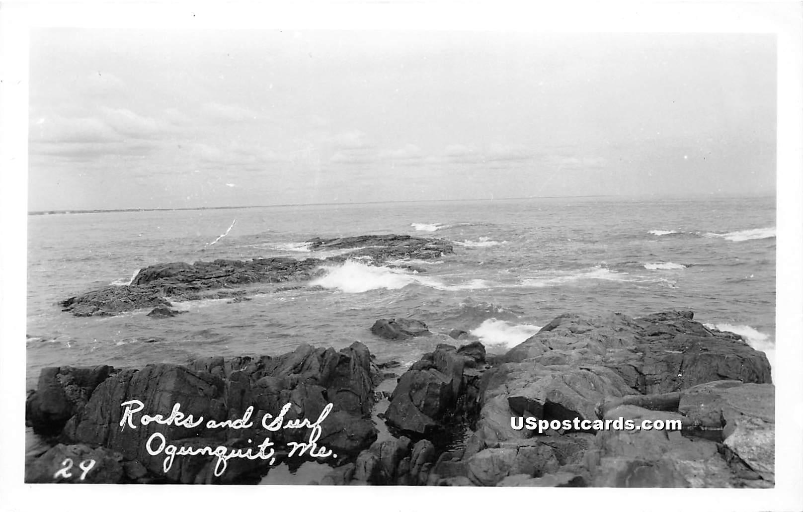Rocks & Surf - Ogunquit, Maine ME Postcard