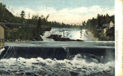 Falls - Rumford Falls, Maine ME Postcard