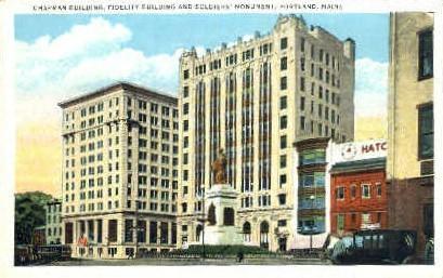 Chapman Building, Fidelity Building - Portland, Maine ME Postcard