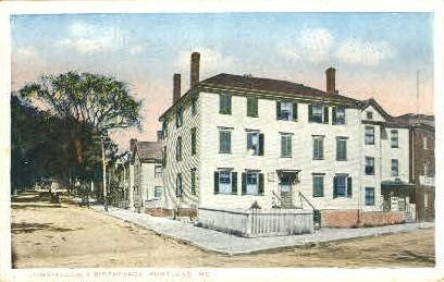 Longfellow's Birthplace - Portland, Maine ME Postcard