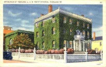 Art Museum of Portland, - Maine ME Postcard