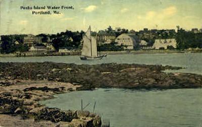 Peaks Island Water Front - Portland, Maine ME Postcard